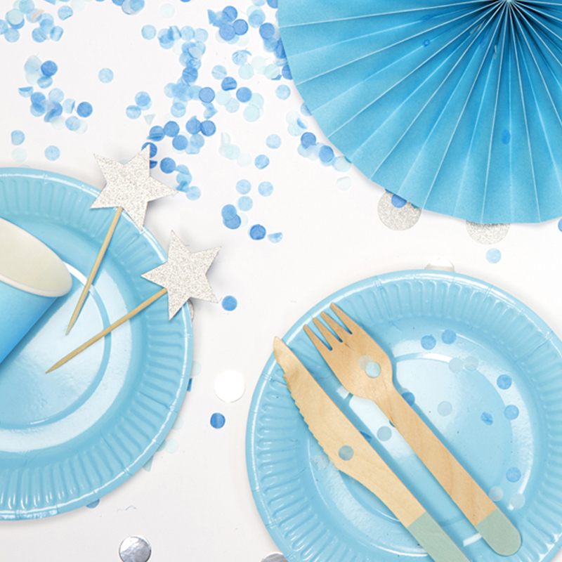 Picture of Party Deco Wooden Cutlery,  Mint 18 pcs
