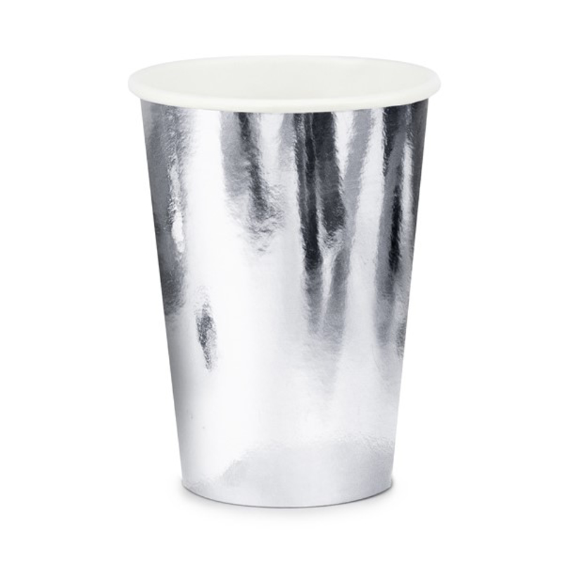 Picture of Party Deco® Cups silver 6 pc.