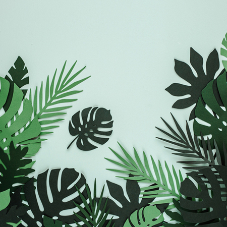 Picture of Party Deco® Table decoration Tropical Leaves Aloha 21pc.