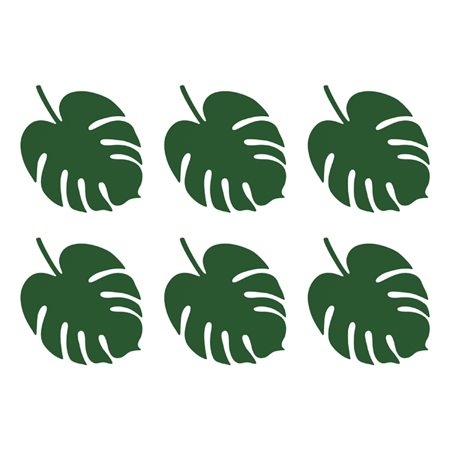 Picture of Party Deco® Table decoration Monstera 6pc.