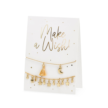 Picture of Party Deco® Card with  bracelets Make a  wish!