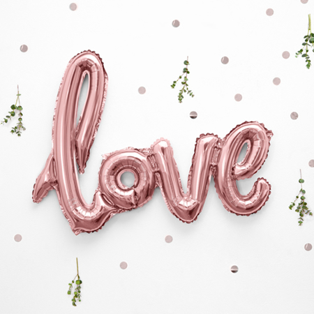 Picture of Party Deco® Ballon Love Rose Gold