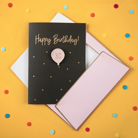 Party Deco® Card with enamel 30