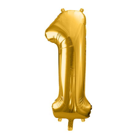 Picture of Party Deco® Ballon number 1 Gold