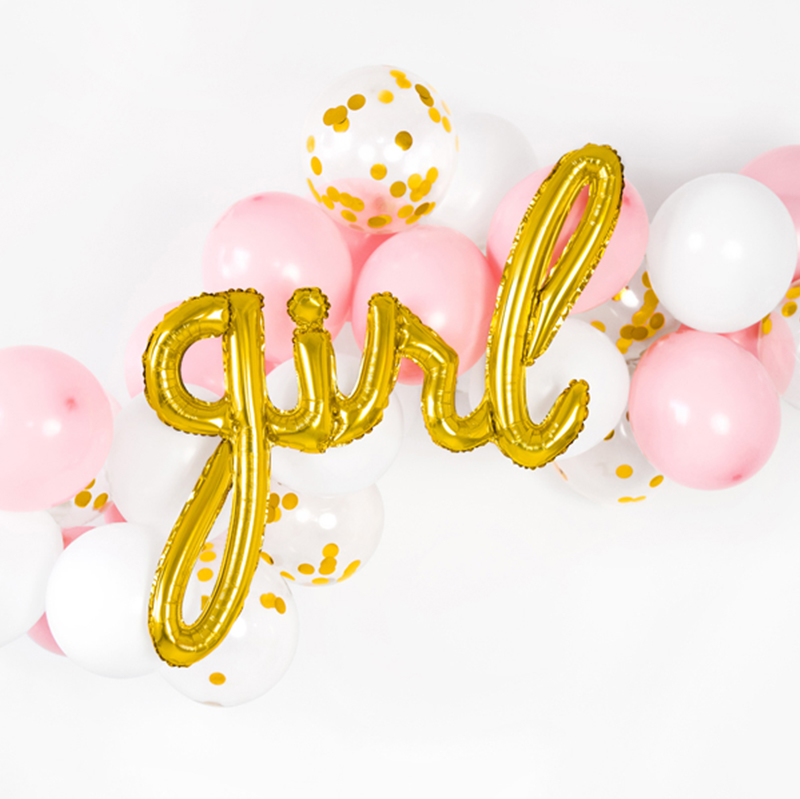 Picture of Party Deco® Party ballon Girl Gold