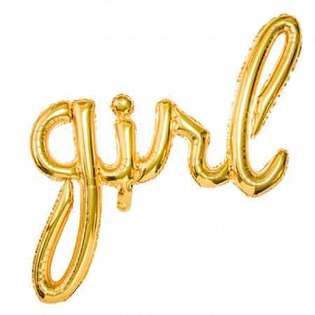 Party Deco® Party ballon Girl Gold