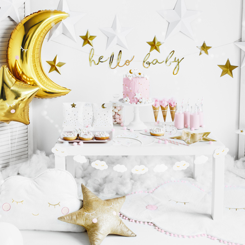 Picture of Party Deco® Banner Little Star  Hello Baby Gold