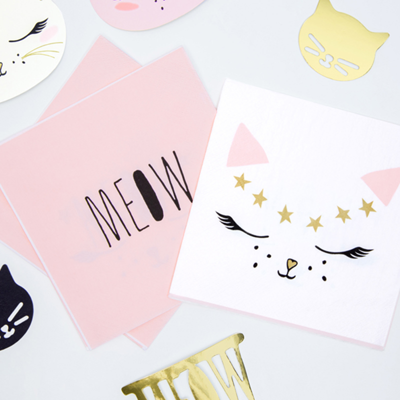 Picture of Party Deco® Napkins 3 layers Kitty 20 pc.