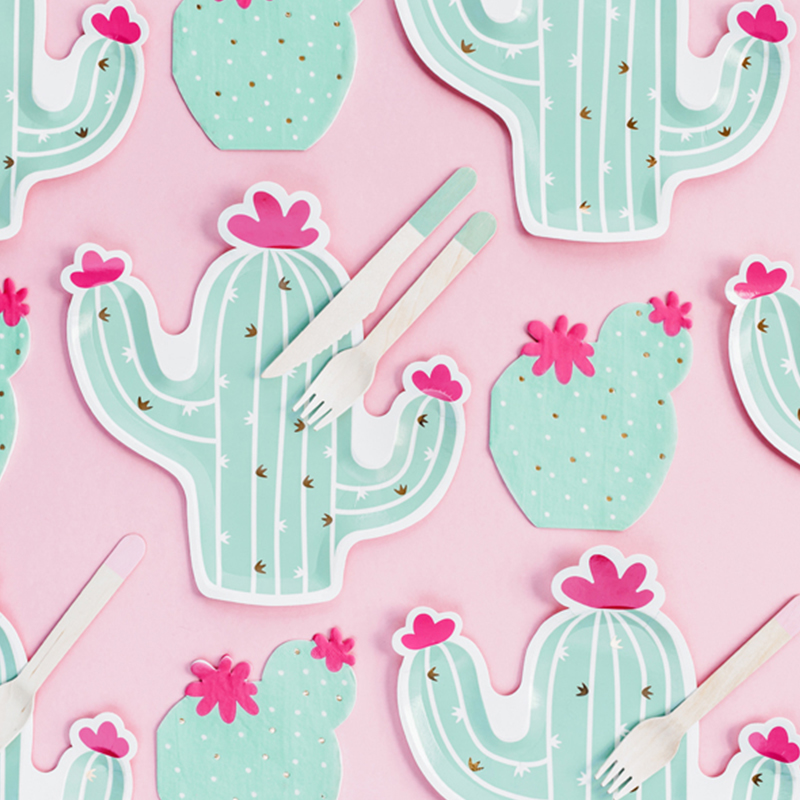 Picture of Party Deco® Napkins 3 layers Cactus 20 pc.