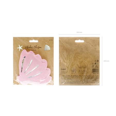 Party Deco® Napkins 3 layers Seashell 20 pc.