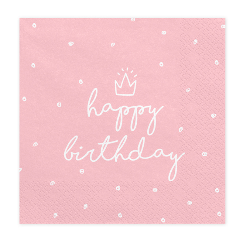 Picture of Party Deco® Napkins 3 layers Happy Birthday 20 pc.