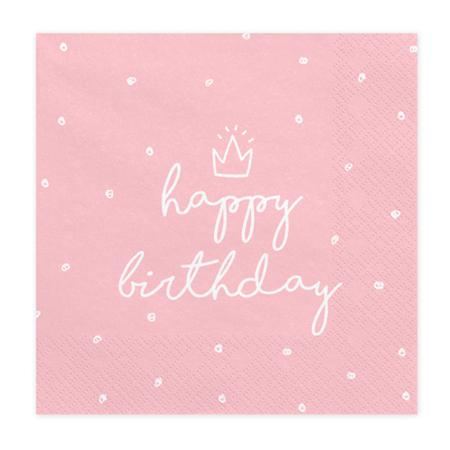 Party Deco® Napkins 3 layers Happy Birthday 20 pc.