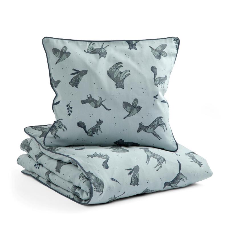 Picture of Sebra® Bed linen Baby Nightfall Hazy Blue 70x100