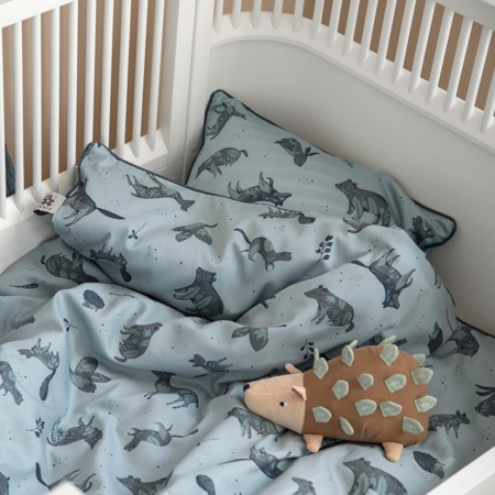 Picture of Sebra® Bed linen Baby Nightfall Hazy Blue 100x140