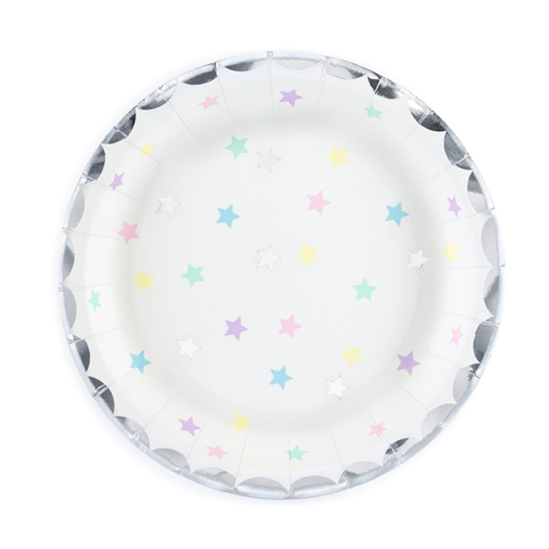 Picture of Party Deco® Plaates Unicorn Stars  6 pc.