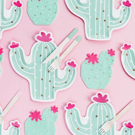 Picture of Party Deco® Paper plates  Cactus 6 pc.