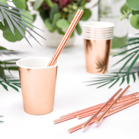 Picture of Party Deco® Paper Straws Rose Gold 10 pc.