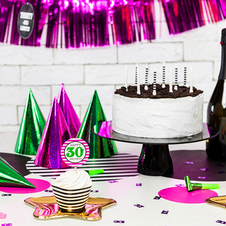 Picture of Party Deco® Birthday Candles  Dots and Stripes 6pc.