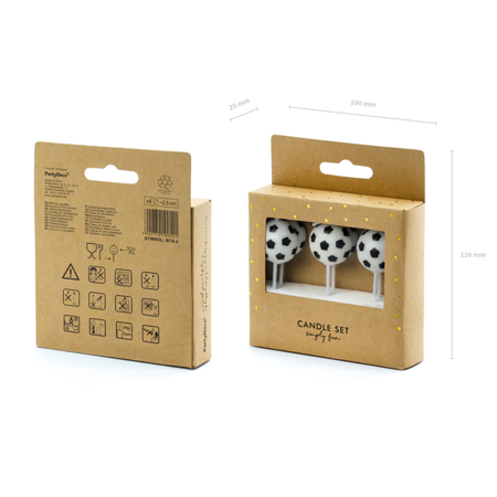 Picture of Party Deco® Birthday Candles Soccer Balls  6pc.