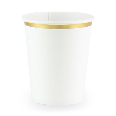 Picture of Party Deco® Cups white 260ml 6 pc.