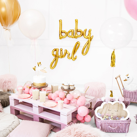Picture of Party Deco® Ballon Baby Gold