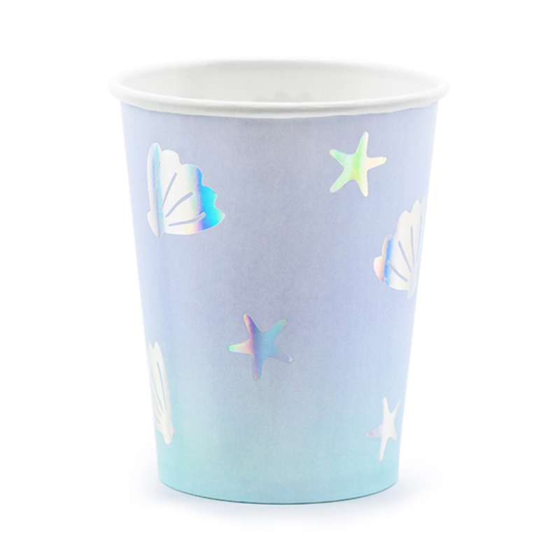 Picture of Party Deco® Cups Narwhal 220ml 6 pc.