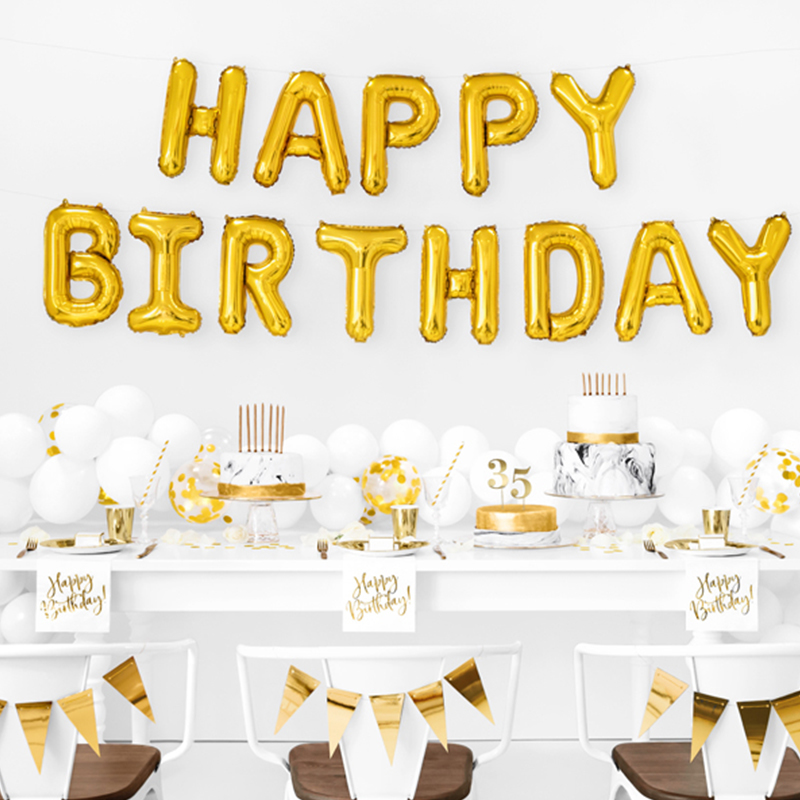 Picture of Party Deco® Ballons  happy Birthday Rose Gold