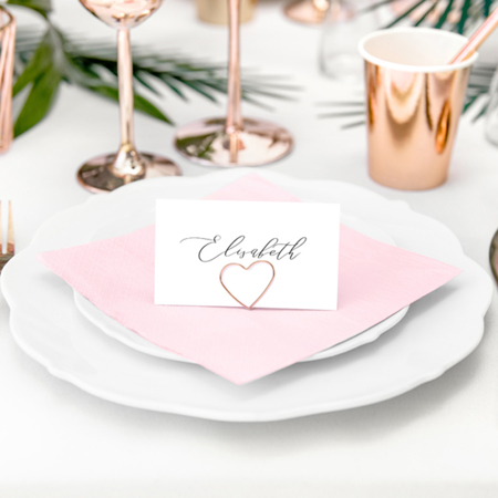 Picture of Party Deco® Napkins 3 layers, Powder Pink 20 pcs.