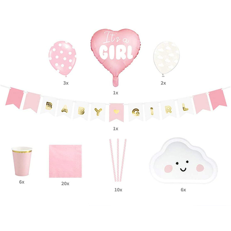 Picture of Party Deco® Party decorations  set - t's a girl! 39 pc.