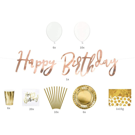 Picture of Party Deco® Party decorations  set - Birthday!