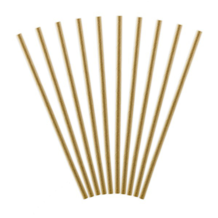 Picture of Party Deco® Paper Straws Kraft 10 pc.