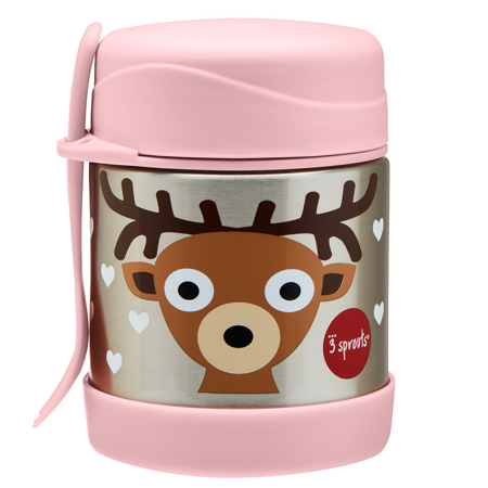 Picture of 3Sprouts® Stainless Steel Food Jar Deer