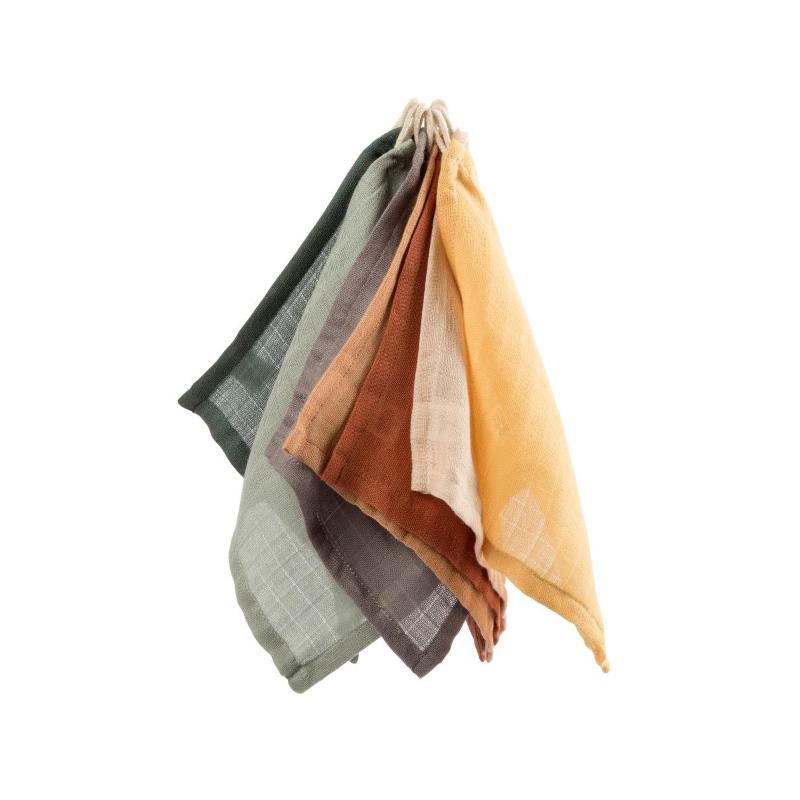 Picture of Sebra® Washcloth 7 pcs. Mixed Colours 20x20