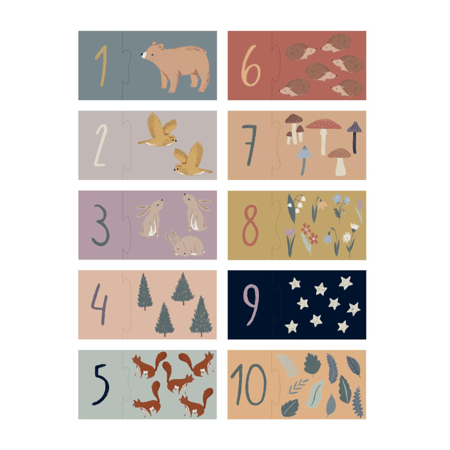 Picture of Sebra® Counting puzzle 1-10 Nightfall