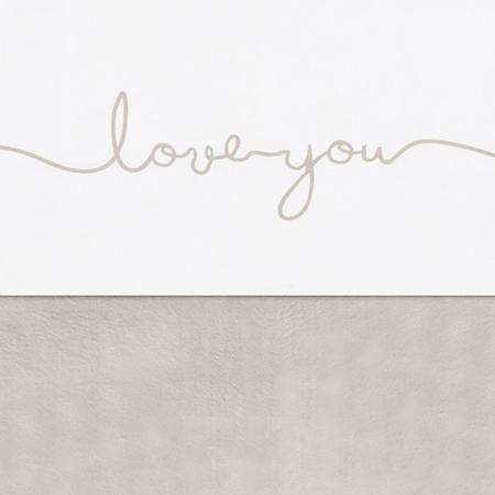 Picture of Jollein® Sheet Crib Love you Nougat 150x120