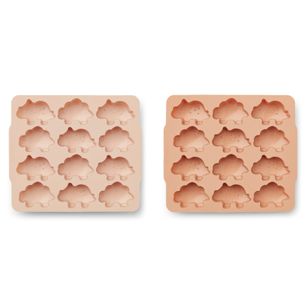 Picture of Liewood® Sonny Ice Cube Tray 2 Pack - Dino rose/tuscany rose mix