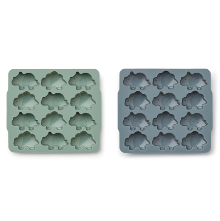 Picture of Liewood® Sonny Ice Cube Tray 2 Pack - Peppermint/whale blue mix