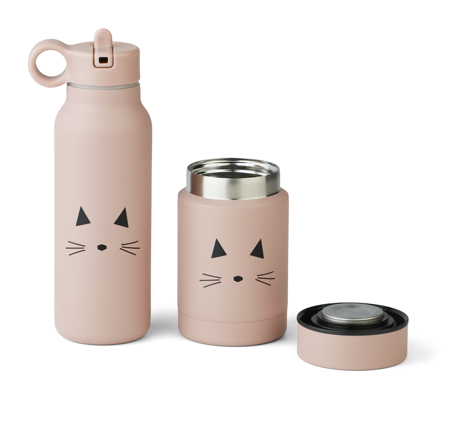 Picture of Liewood® Marlow set thermo Falk Bottle & Nadja Jar Marlow cat Rose