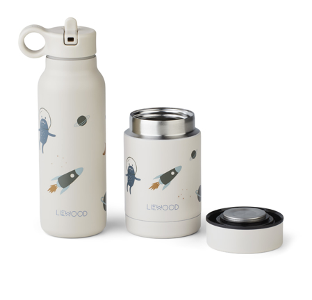 Picture of Liewood® Marlow set thermo Falk Bottle & Nadja Jar Marlow Space sandy Mix
