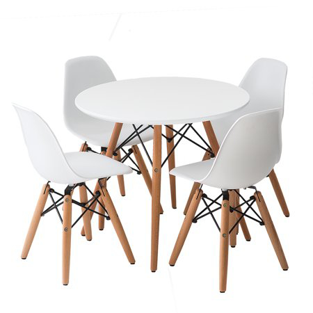 Picture of EM Furniture Scandinavian Inspired Table & Chair 4-Set White