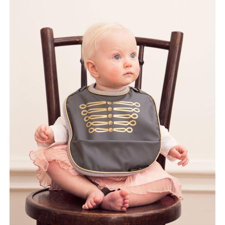 Elodie Details® Baby Bib Golden Grey