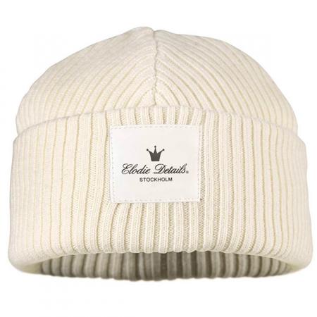 Picture of Elodie Details Wool Cap - Vanilla White 0-6M