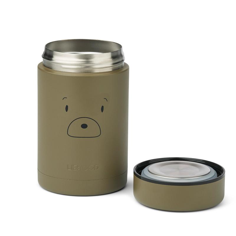Picture of Liewood® Bernard Food Jar Mr bear Khaki  500ml