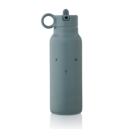Picture of Liewood® Falk water bottle 350 ml Rabbit whale blue