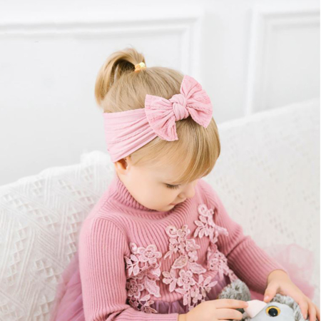 Picture of Elastic Cable bow Headband BOHO White