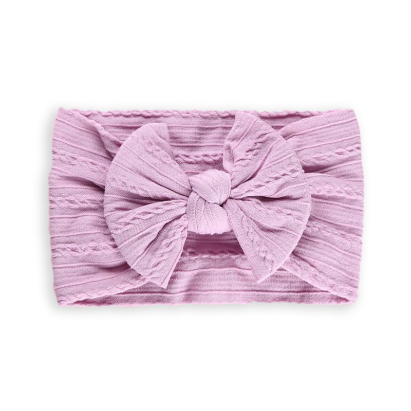 Picture of Elastic Cable bow Headband BOHO Lavander
