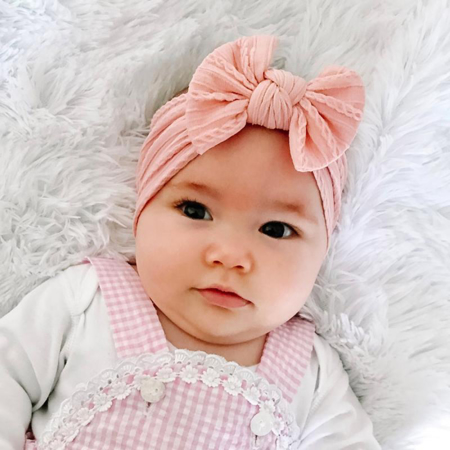Picture of Elastic Cable bow Headband BOHO Nude