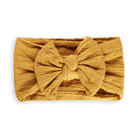 Picture of Elastic Cable bow Headband BOHO Mustard