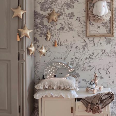 Picture of Little Lights® Handmade wooden lamp Deer Forest Light Grey