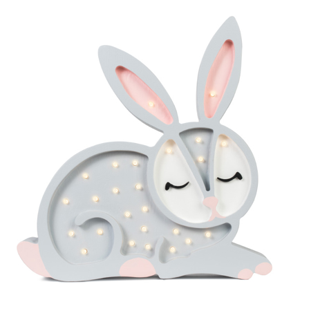 Picture of Little Lights® Handmade wooden lamp Bunny Light Grey